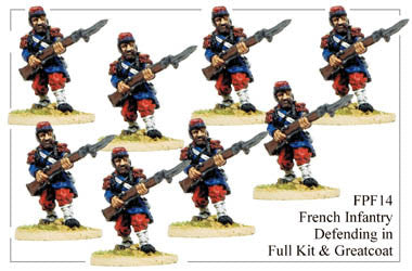 FPF014 French Infantry in Full Kit and Greatcoats Defending