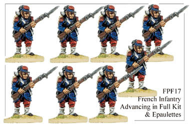 FPF017 French Infantry in Full Kit and Epaulettes Advancing