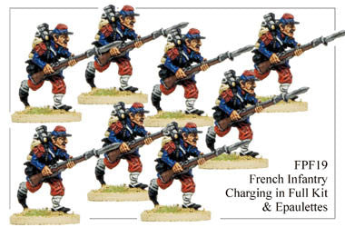 FPF019 French Infantry in Full Kit and Epaulettes Charging