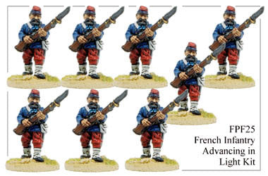 FPF025 French Infantry in Light Kit Advancing