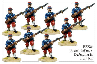 FPF026 French Infantry in Light Kit Defending