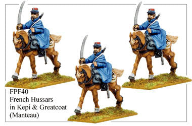 FPF040 French Hussars in Kepis and Greatcoats