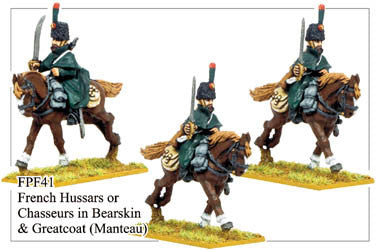 FPF041 French Hussars or Chasseurs in Bearskins and Greatcoats