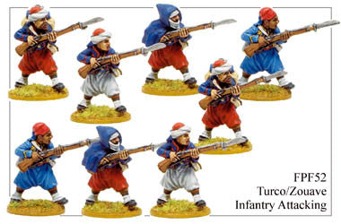 FPF052 Turco/Zouave Infantry Attacking