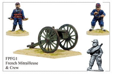 FPFG001 French Mitrailleuse Gun and Crew