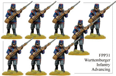 FPP031 Wurttemburger Infantry Advancing
