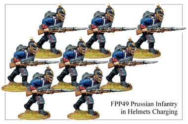 FPP049 Prussian Infantry in Helmets Charging