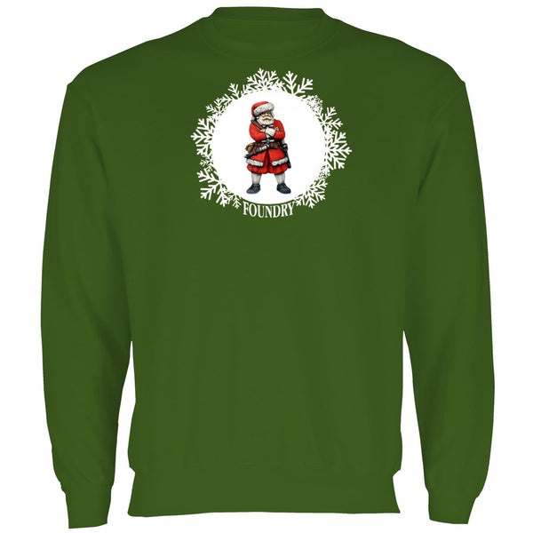 Printed Viking Santa Sweatshirt - Bottle Green