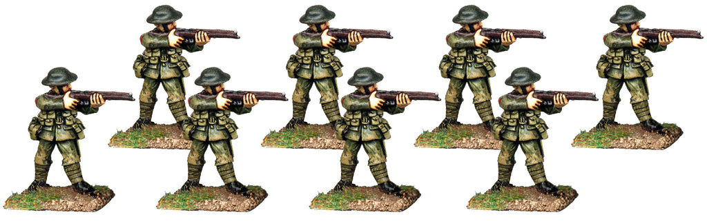 GWB010 - British Infantry In Helmets Firing Line