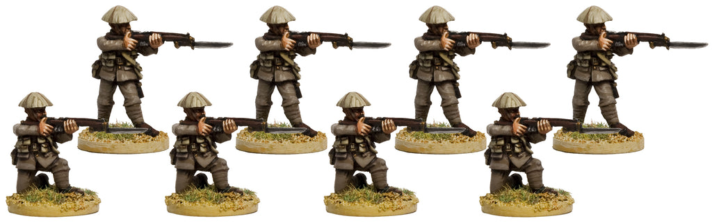 GWB015 - British Infantry In Covered Helmets Attacking