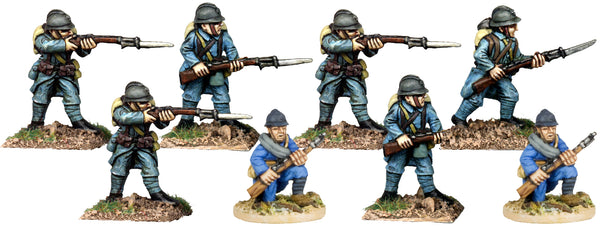 GWF001 - French Infantry In Helmets Firing Line