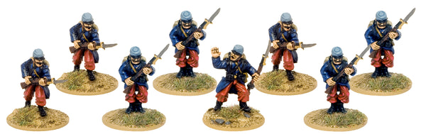 GWF006 - French Infantry In Kepis Attacking