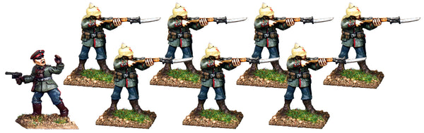 GWG003 - German Infantry In Pickelhaube Firing Line