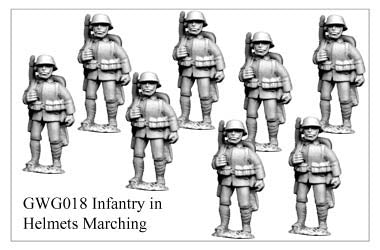 GWG018 - Infantry in Helmets Marching