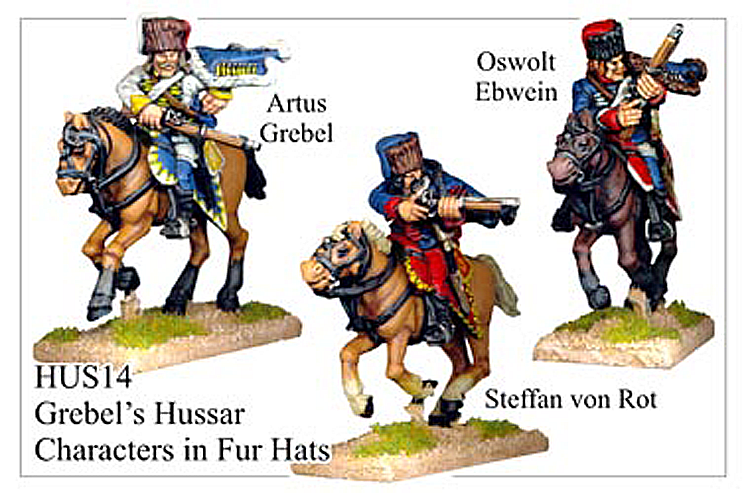 HUS014 - Hussars In Fur Hat Characters