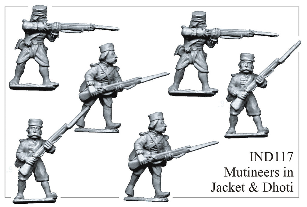 IND117 Mutineers in Jacket and Dhoti