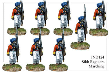 IND124 Sikh Infantry Marching