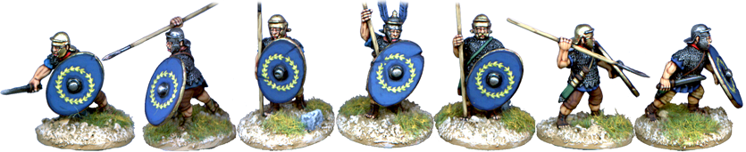 IR023 - Assorted Auxilia in Mail Armour with Optio