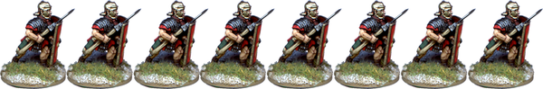 IR041 - Legionaries, Segmented Armour, Advancing, Pilum at 45 Degrees