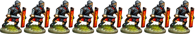 IR052 - Legionaries, Segmented Armour, Armoured Forearm, Advancing with Gladius