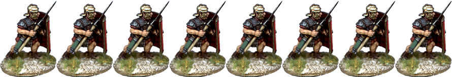 IR061 - Legionaries, Mail Armour, Advancing, Pilum at 45 Degrees