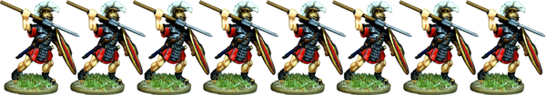 IR067 - Praetorian Guard, Segmented Armour, Attacking with Pilum