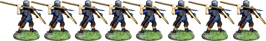 IR075 - Auxilia, Mail Armour, Thrusting with Spear