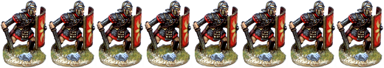 IR086 - Legionaries, Mail Armour, Armoured Forearm, Advancing with Gladius