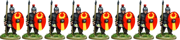 LR004 - Armoured Late Roman Infantry Standing
