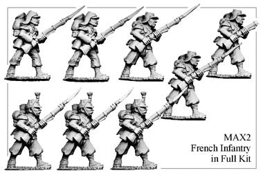 MAX002 French Infantry in Full Kit Advancing