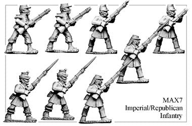 MAX007 Imperial/Republican Infantry