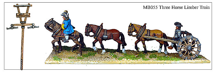 MB055 - Three Horse Limber Train