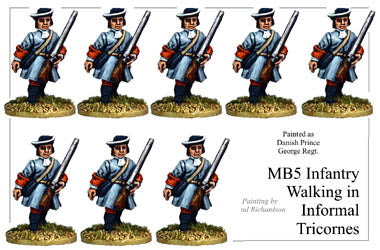 MB005 - Infantry In Informal Tricorns Marching