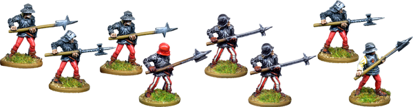 MED112 - Billmen or Pikemen Advancing