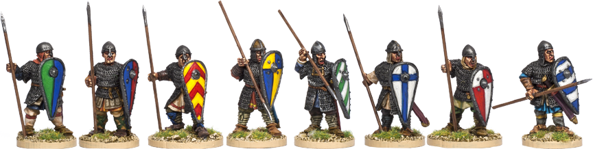 NM013 - Armoured Norman Spearmen Standing