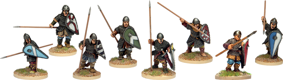 NM014 - Armoured Norman Spearmen Advancing