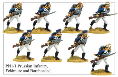 PN011 Infantry in Feldmutz and Bareheaded