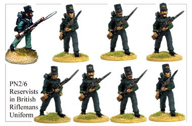 PN026 Reservists in British Rifleman's Uniform