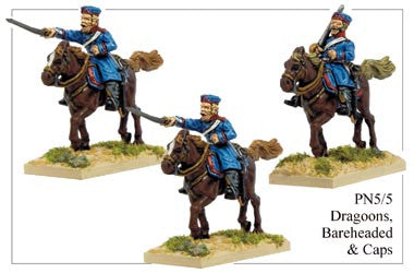 PN055 Dragoons in Cap and Bareheaded