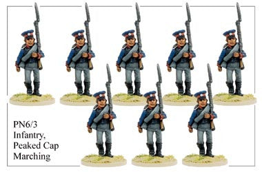 PN063 Infantry in Peaked Cap Marching