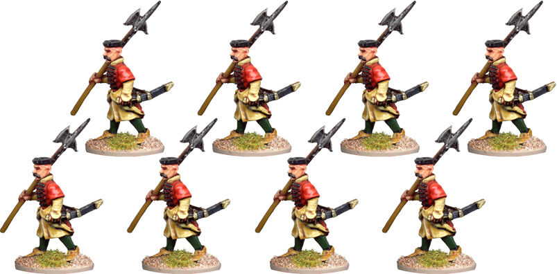 POL004 - Halberdiers (NCOs or Guardsmen)