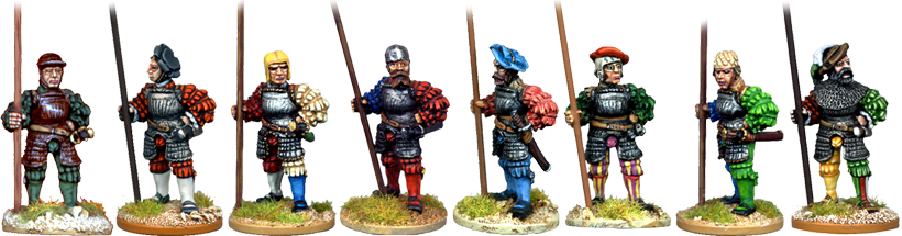 REN045 - Armoured Landsknechts at the Ready