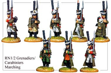 RN012 Grenadiers or Carabiniers Marching