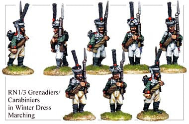 RN013 Grenadiers or Carabiniers in Winter Dress Marching
