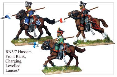 RN037 Hussars Charging in Front Rank, Levelled Lances