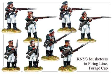 RN053 Musketeers in Firing Line and Forage Cap