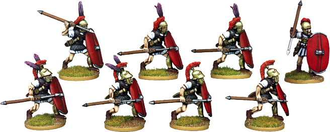 RR003 - Roman Legionary Hastati Advancing