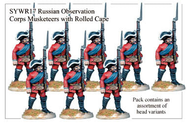 SYWR017 Russian Observation Corps Musketeers with Rolled Capes