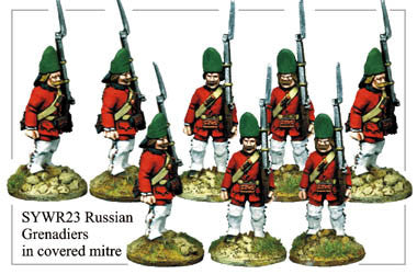SYWR023 Russian Grenadiers in Covered Mitre