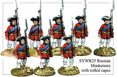 SYWR025 Russian Musketeers with Rolled Capes